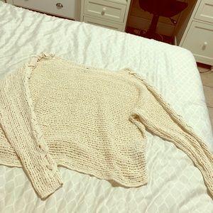 Billabong sweater with cross sleeve details
